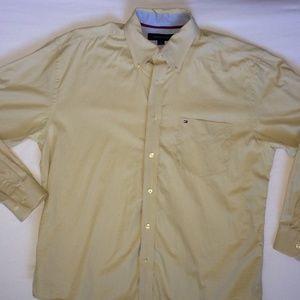 Tommy Hilfiger Size L Button Down Shirt Champagne